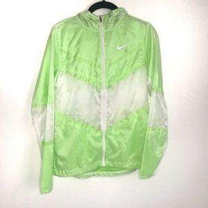 Women's Nike running jacket neon lemon lime small